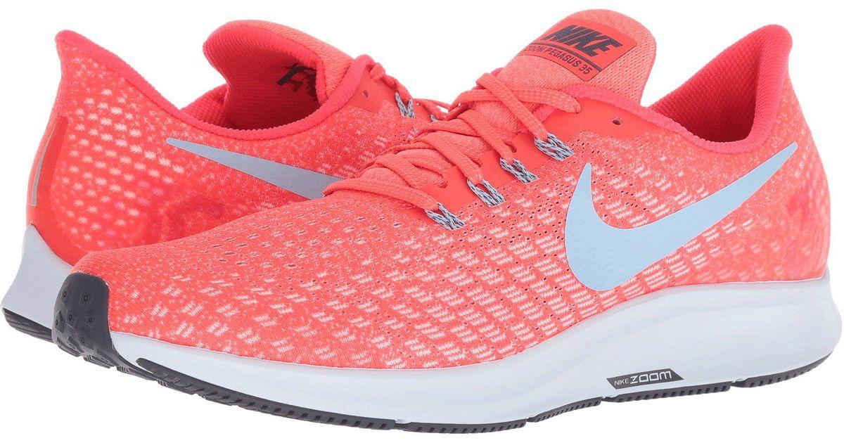 big sale 3dc96 6a206 Lyst - Nike Air Zoom Pegasus 35 (gridiron laser Orange black pink Blast) Men s  Running Shoes in Red for Men