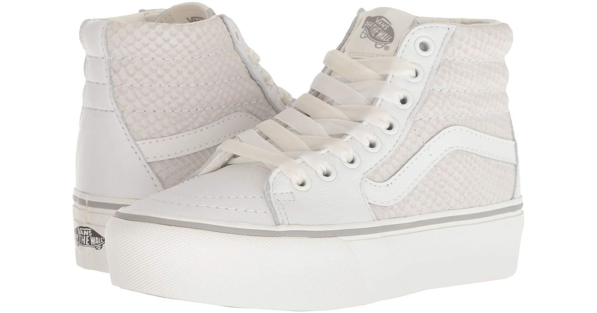 Lyst - Vans Sk8-hi Platform 2.0 in White - Save 31% e05074645