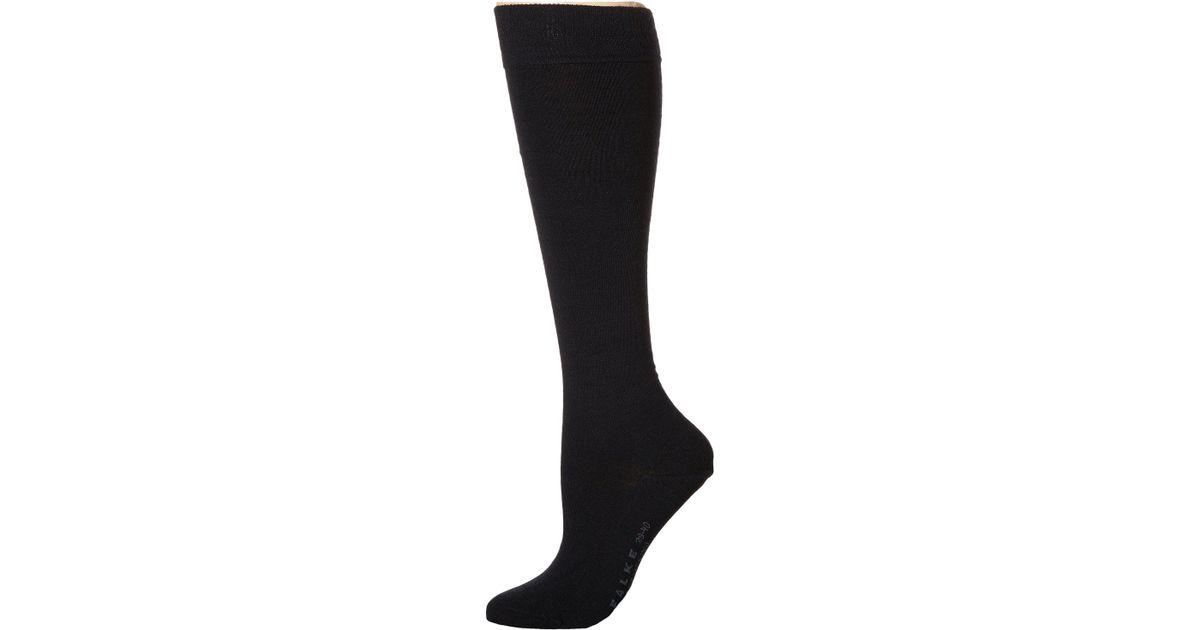 0bb5d6d3f Lyst - Falke Soft Merino Knee Highs (dark Navy) Women s Knee High Socks  Shoes in Black