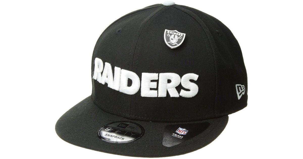 78d290c7948 ... promo code for lyst ktz oakland raiders pinned snap black baseball caps  in black for men