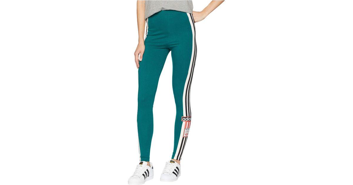 4c6265bc31cf3 adidas Originals Adibreak Leggings (noble Green) Women's Casual Pants in  Green - Lyst