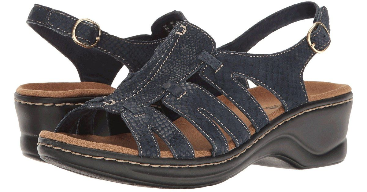 60b0501848fdee Lyst - Clarks Lexi Marigold Q (pewter Leather) Women s Sandals in Blue
