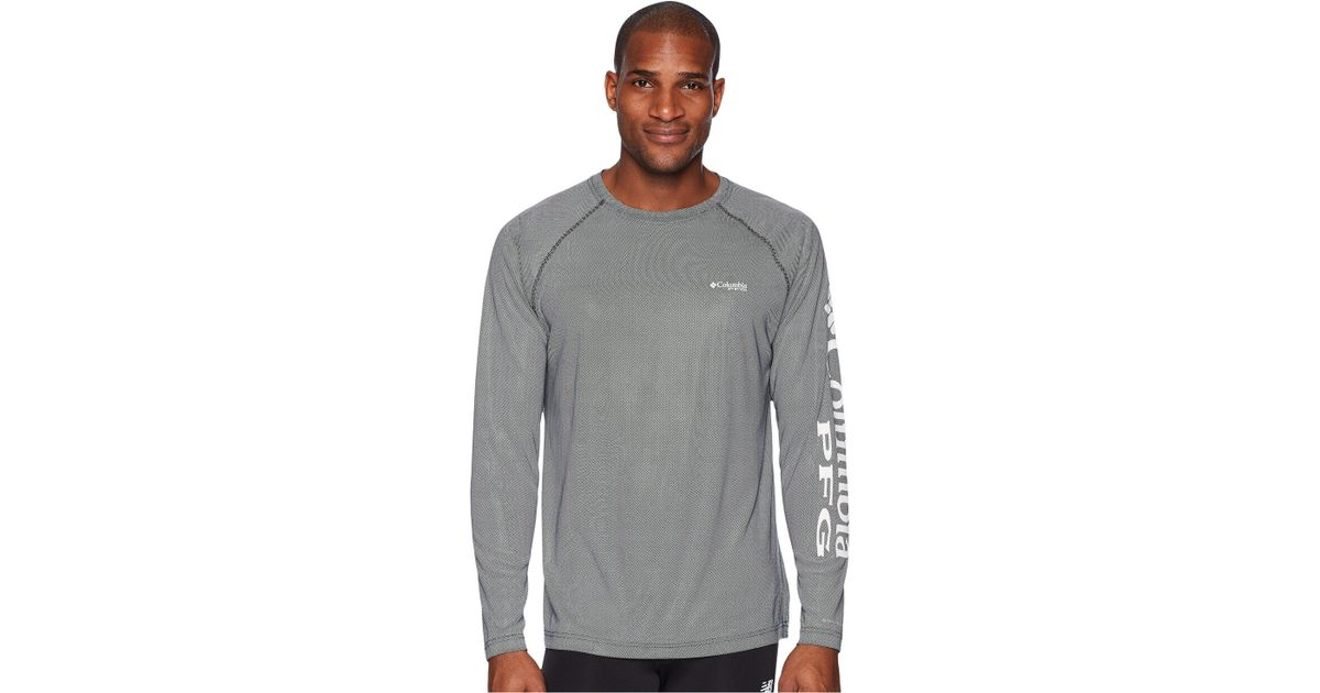 6098f5cf4bb Lyst - Columbia Solar Shade Long Sleeve Top (black/cool Grey) Men's Long  Sleeve Pullover in Gray for Men