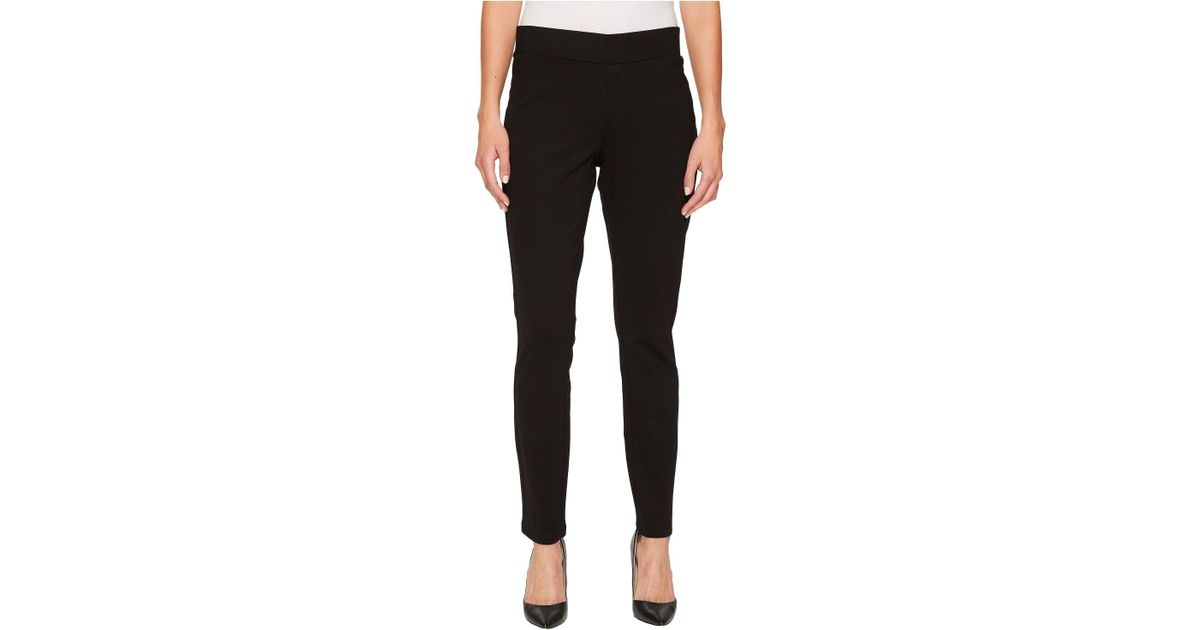 66347208795ee Lyst - NYDJ Basic Ponte Legging Pants (bittersweet) Women's Casual Pants in  Black