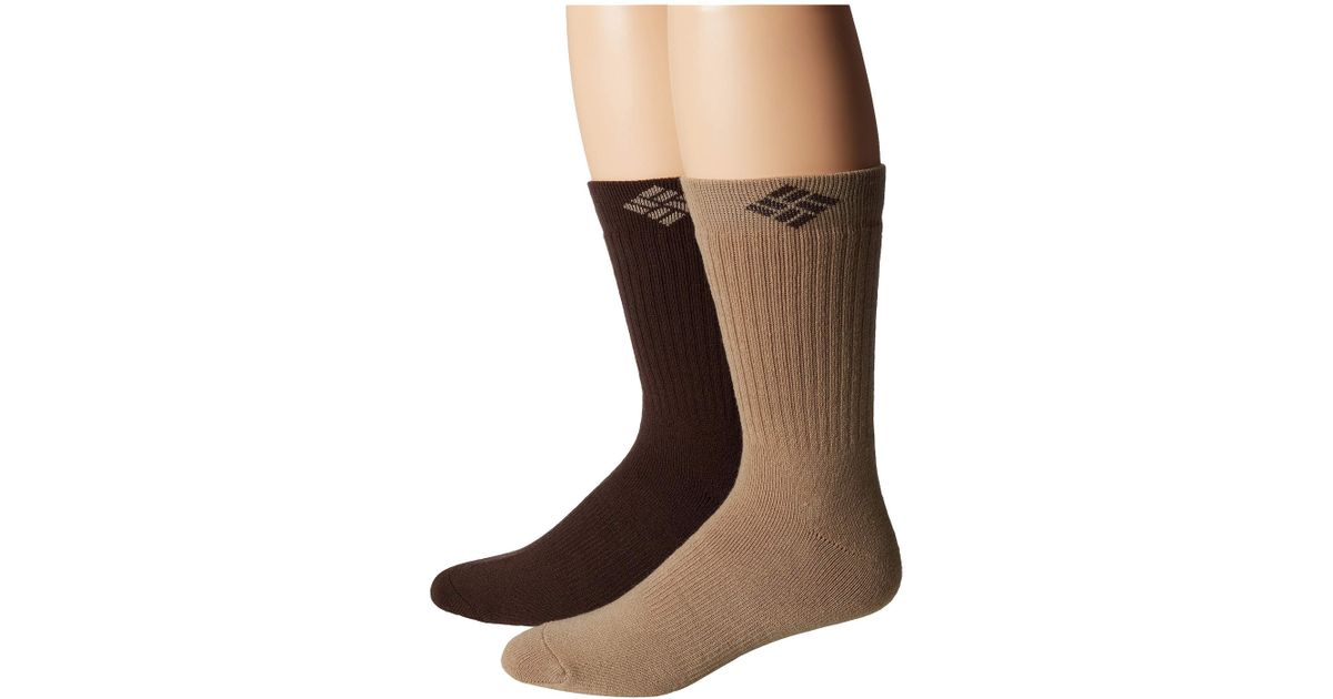 89bb7dba7ad4 Lyst - Columbia Wool Cushioned Crew 2-pack (khaki brown) Men s Crew Cut Socks  Shoes in Brown for Men