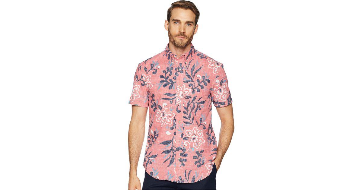 21db24114cd Lyst - Reyn Spooner Perennial Pareau Tailored Fit Aloha Shirt in Pink for  Men