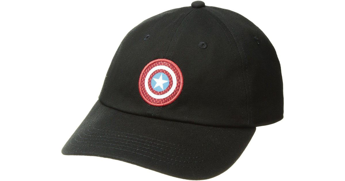 cc2bdca53c5 Lyst - Vans Captain Shield Courtside Hat (black) Baseball Caps in Black
