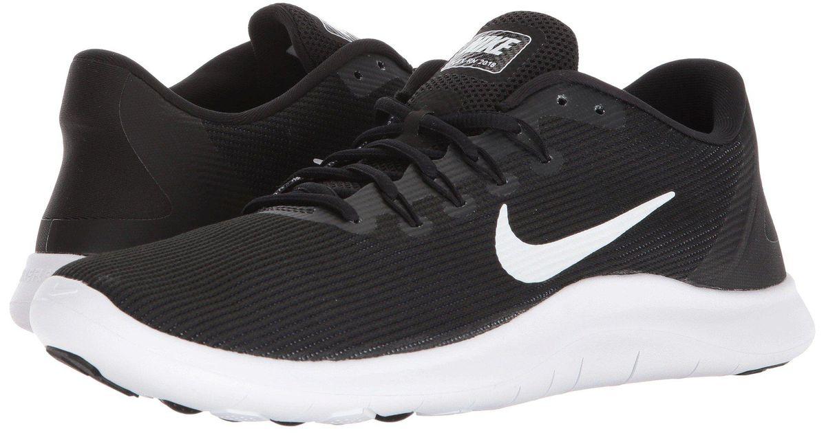 0cd4efa3b9c963 Lyst - Nike Flex Rn 2018 (black white) Men s Running Shoes in Black for Men
