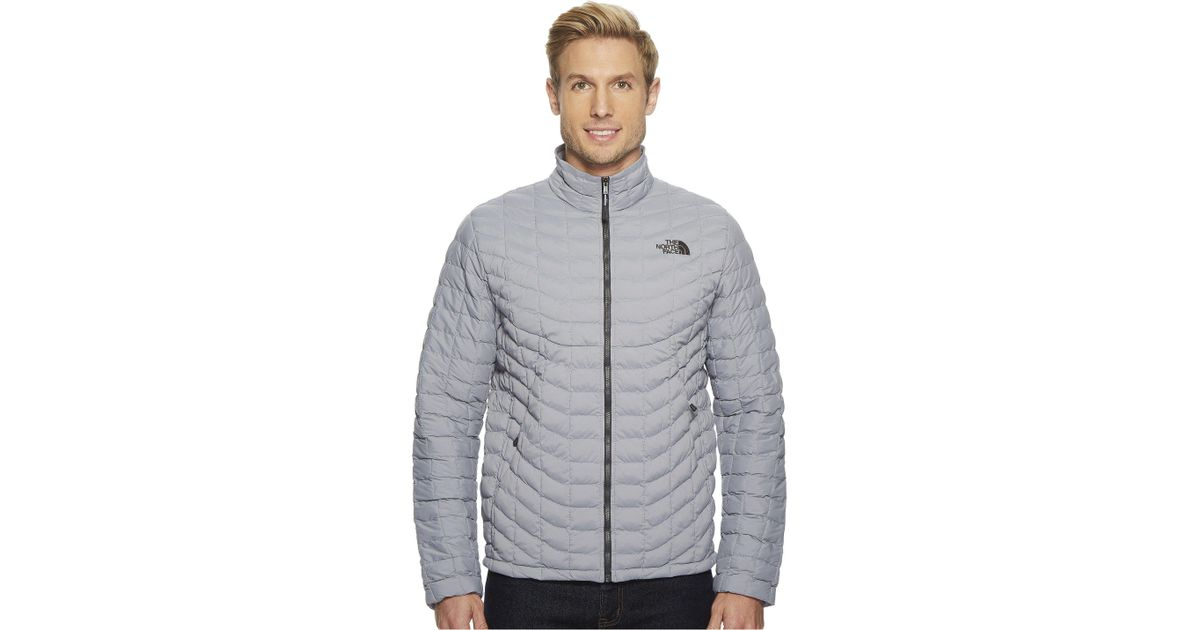 8c4dc9d85998 Lyst - The North Face Stretch Thermoball Full Zip in Gray for Men