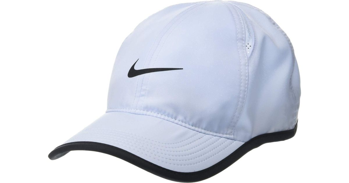 8b2fd196ca3 ... sale lyst nike featherlight cap metallic blue blue void white caps in  black for men 8d868