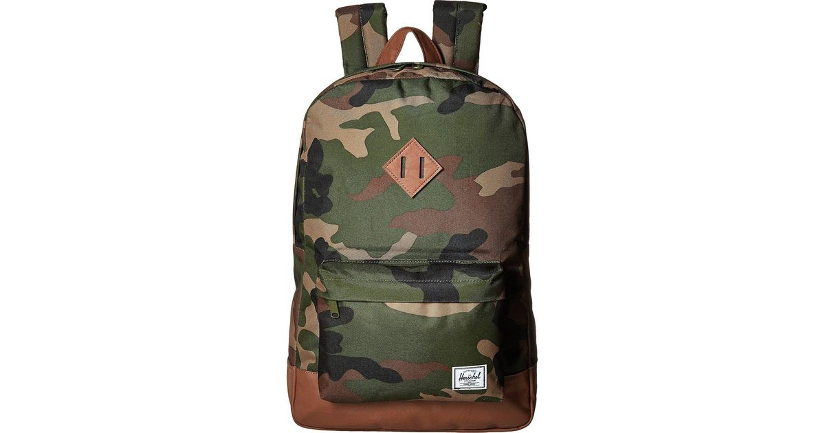0d0783f9b936 Lyst - Herschel Supply Co. Heritage (woodland Camo tan Synthetic Leather)  Backpack Bags for Men