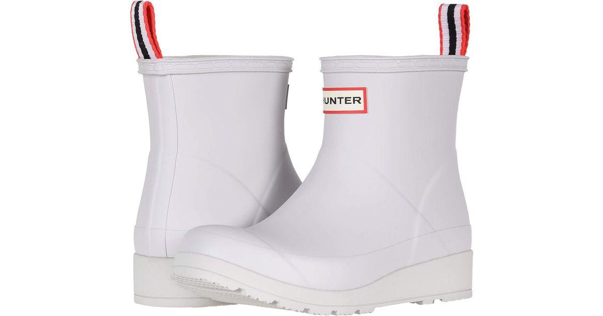 d77b8fa3ad0 Lyst - HUNTER Original Play Boot Short Rain Boots ( Red) Women s Rain Boots  in White