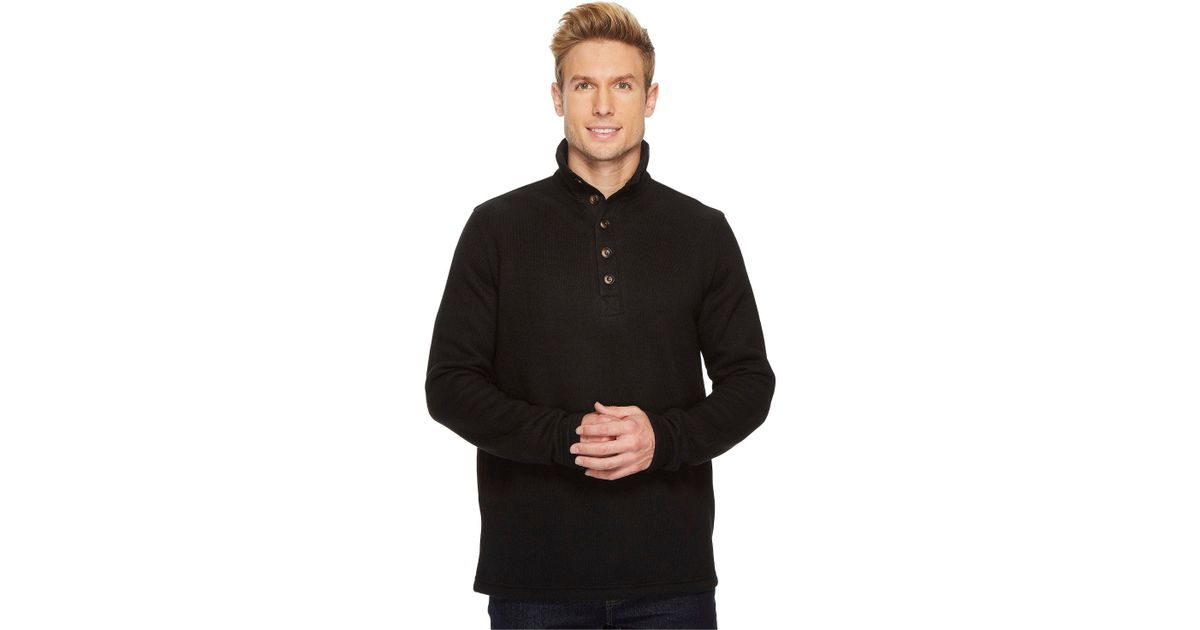 5b8b6a92 Lyst - Stetson 1499 Bonded Sweater Knit Pullover in Black for Men