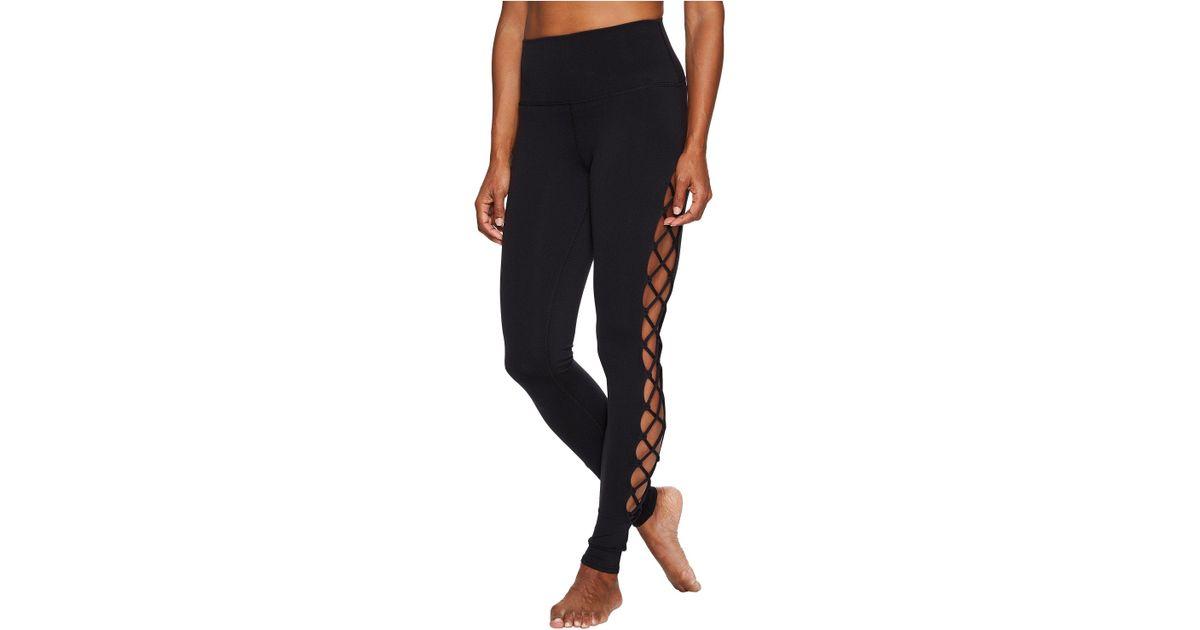 fd3d72dcf9 Alo Yoga Interlace Leggings (white) Women's Casual Pants in Black - Lyst
