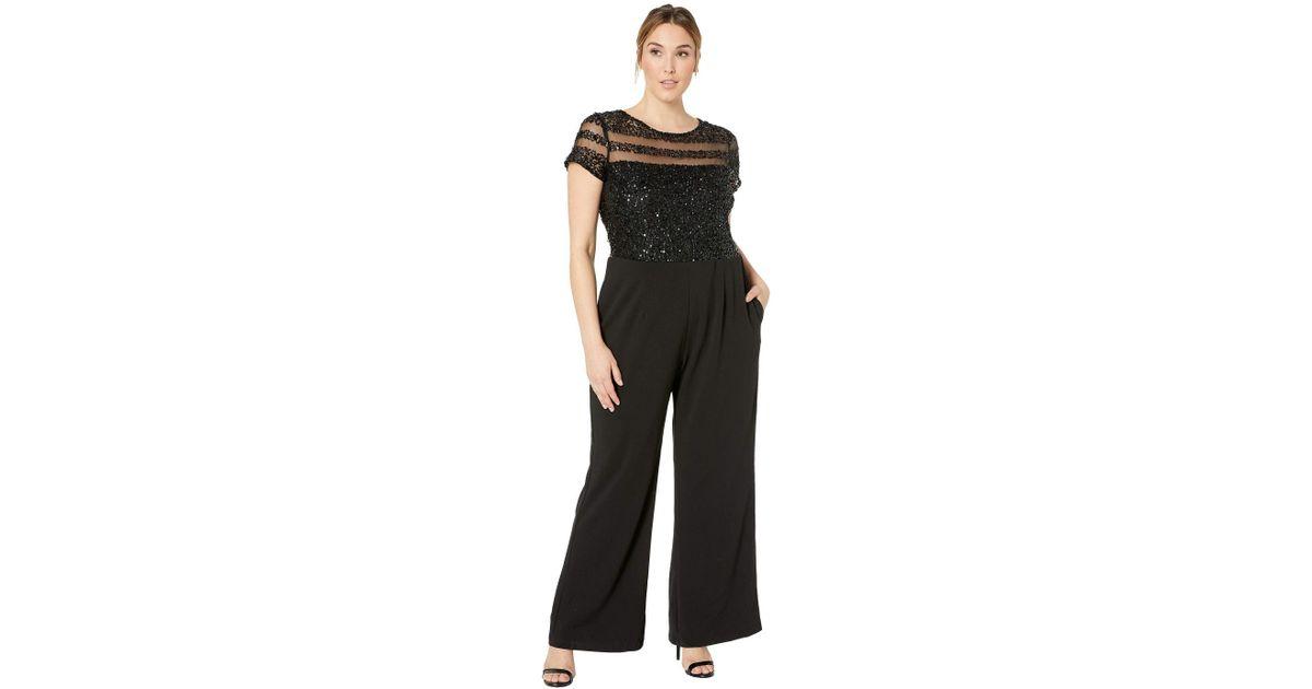 d6de359f1d00 Lyst - Adrianna Papell Plus Size Crepe Jumpsuit (black) Women s Jumpsuit    Rompers One Piece in Black