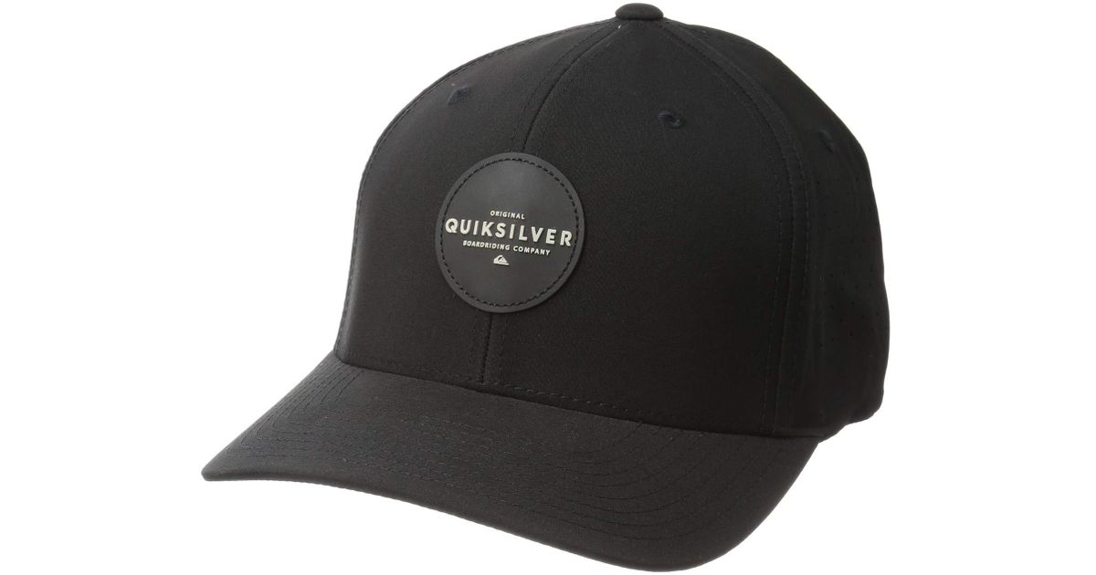 competitive price 983c2 83515 ... flexfit hats aqyha04225 45956 46add germany lyst quiksilver amphibian  nation perf hat black caps in black for men 5fdd5 5b03e ...