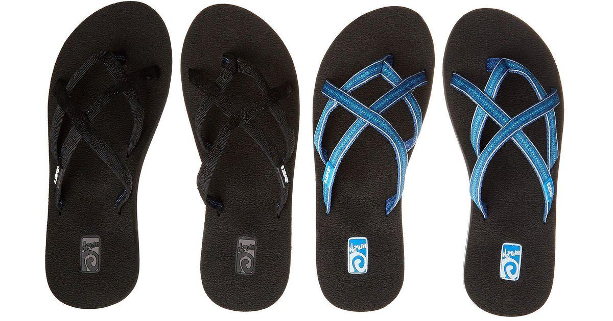 ceef9c5b8 Lyst - Teva Olowahu 2-pack (mibob felicitas Black) Women s Sandals in Blue