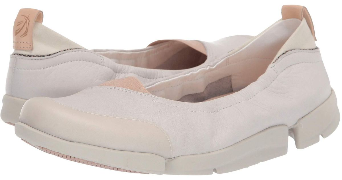 be9df8380d Clarks Tri Adapt (white Leather) Women's Flat Shoes in White - Lyst