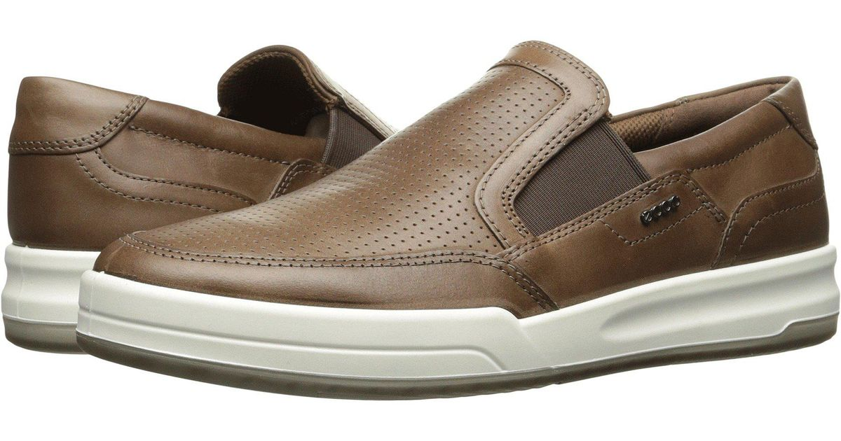 46e435c5 Ecco Brown Jack Perforated Slip On Fashion Sneaker for men