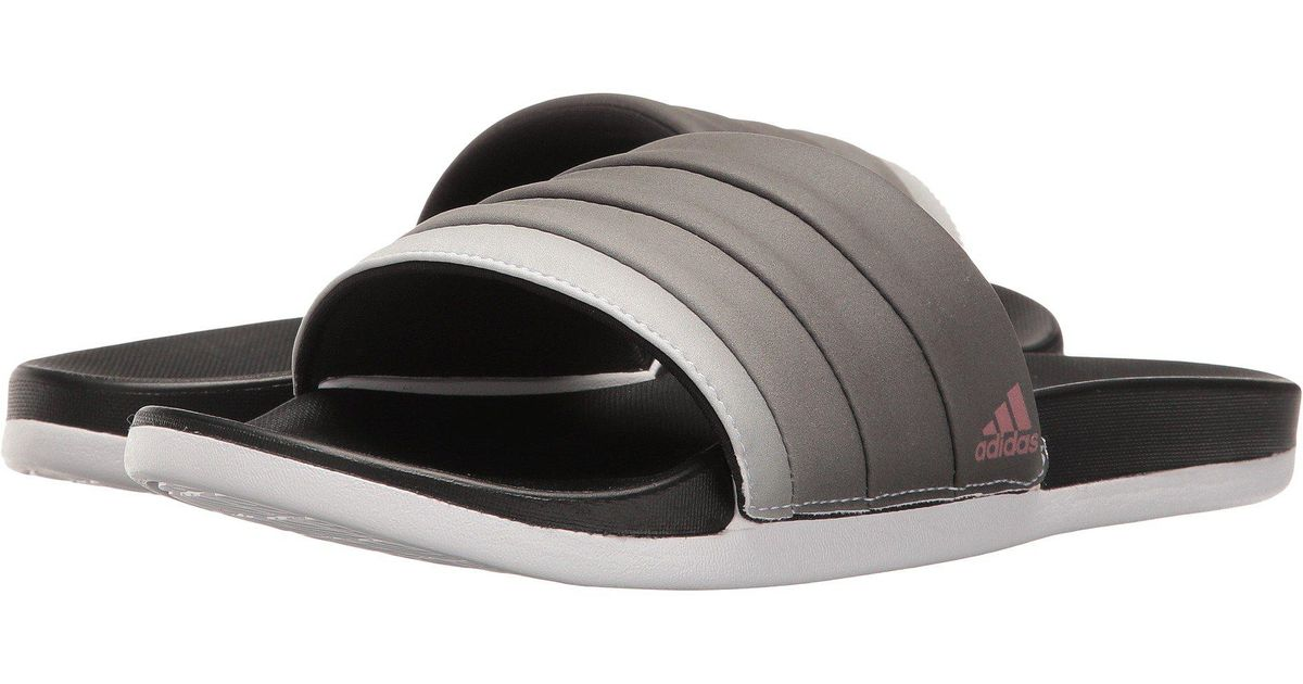 d231fea57ede Lyst - adidas Adilette Cloudfoam Ultra Armad (core Black tech Rust  Metallic footwear White) Women s Slide Shoes