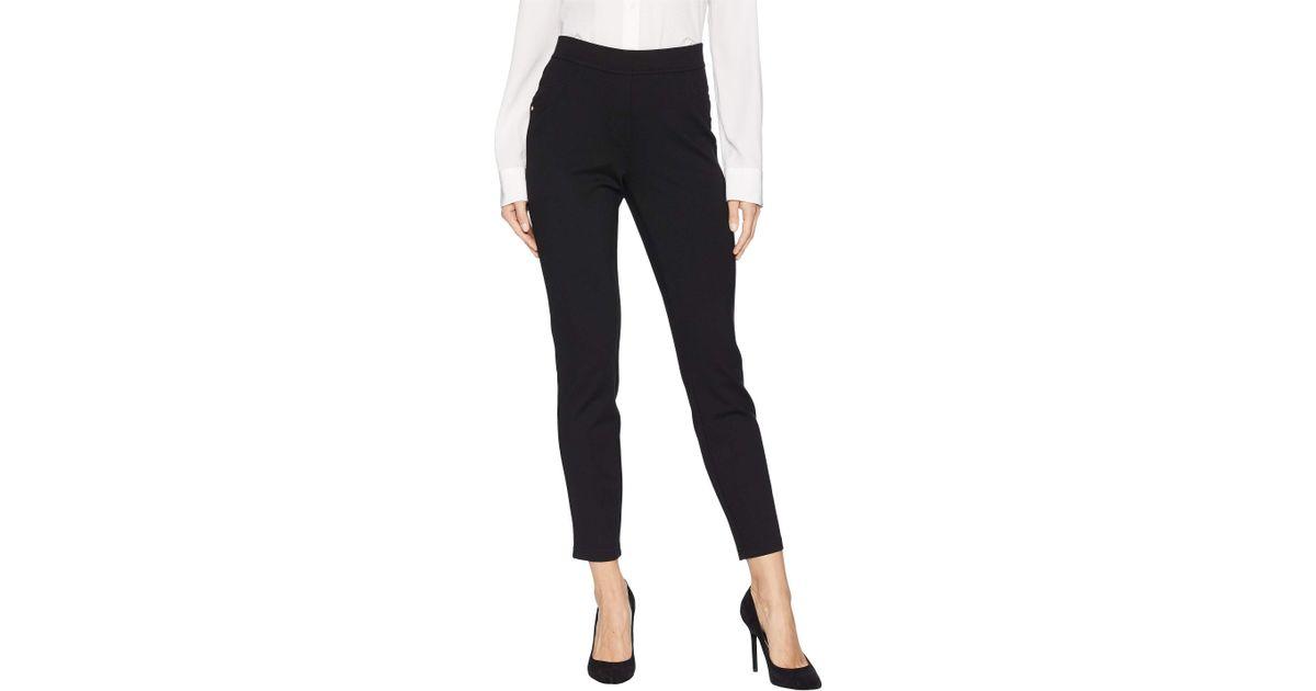 4cc0663b2d3d14 Ivanka Trump Pull-on Self-tab Ponte Pants (black) Women's Clothing in Black  - Lyst