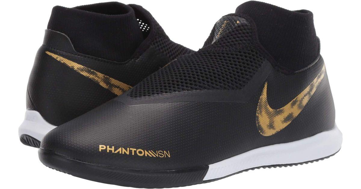dcb909be7382 Nike Phantom Vsn Academy Df Ic (black/metallic Vivid Gold) Men's Soccer  Shoes in Metallic for Men - Lyst