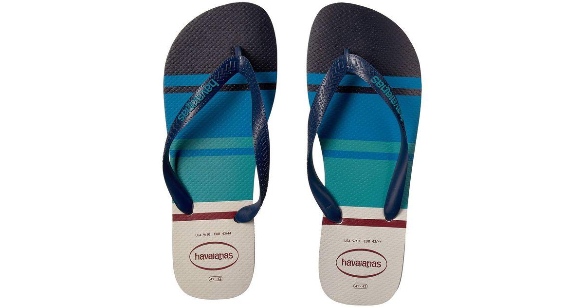 6b2af5bd8 Lyst - Havaianas Men s Nautical Thong Flip-flops - White in White for Men -  Save 17%