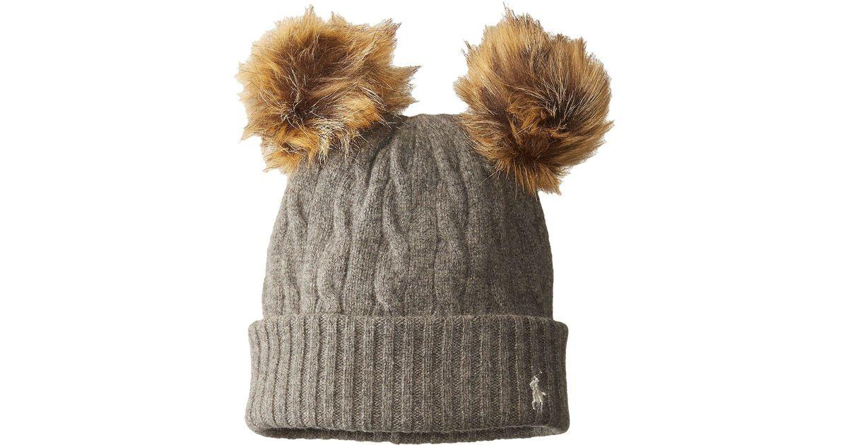 Lyst - Polo Ralph Lauren Double Pom Cashmere Blend Hat 731c5d5d8d7