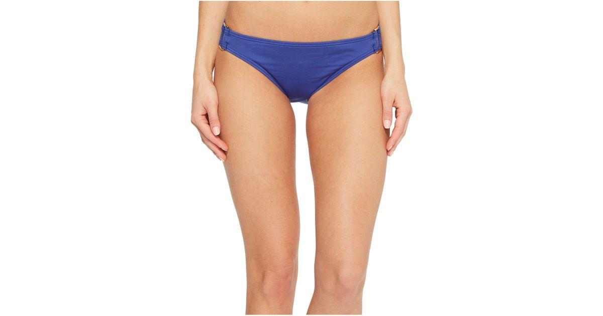 09eef44be80 Tommy Bahama Pearl Hipster Bikini Bottom With Rectangle Hardware (dark  Sanibel Blue) Swimwear in Blue - Save 46% - Lyst