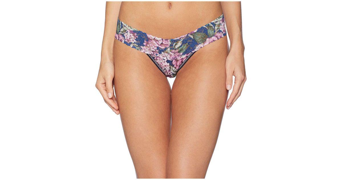 7c39844404 Lyst - Hanky Panky Petite Florentina Low Rise Thong (multi) Women s  Underwear in Blue