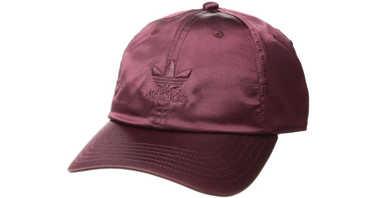 6ec04425b20df Lyst - adidas Originals Originals Relaxed Satin Strapback (ice Purple) Caps  in Purple