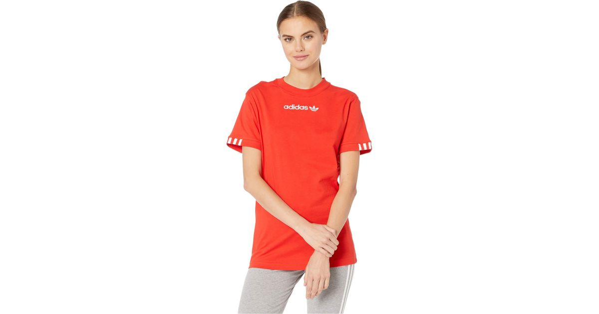 7c5c646b199 adidas Originals Coeeze T-shirt (active Red) Women's T Shirt in Red - Lyst