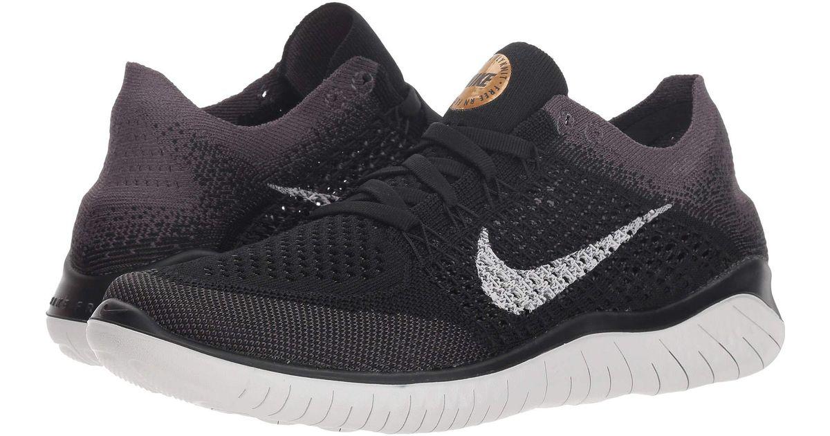 b1183782bd8e Lyst - Nike Free Rn Flyknit (black vast Grey metallic Gold) Women s Shoes  in Black