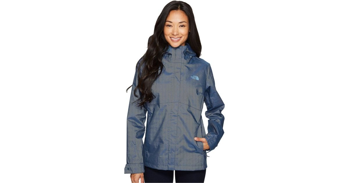 576a0f90ad5d1 The North Face Berrien Jacket (blue Wing Teal Denim) Women's Coat in Blue -  Lyst
