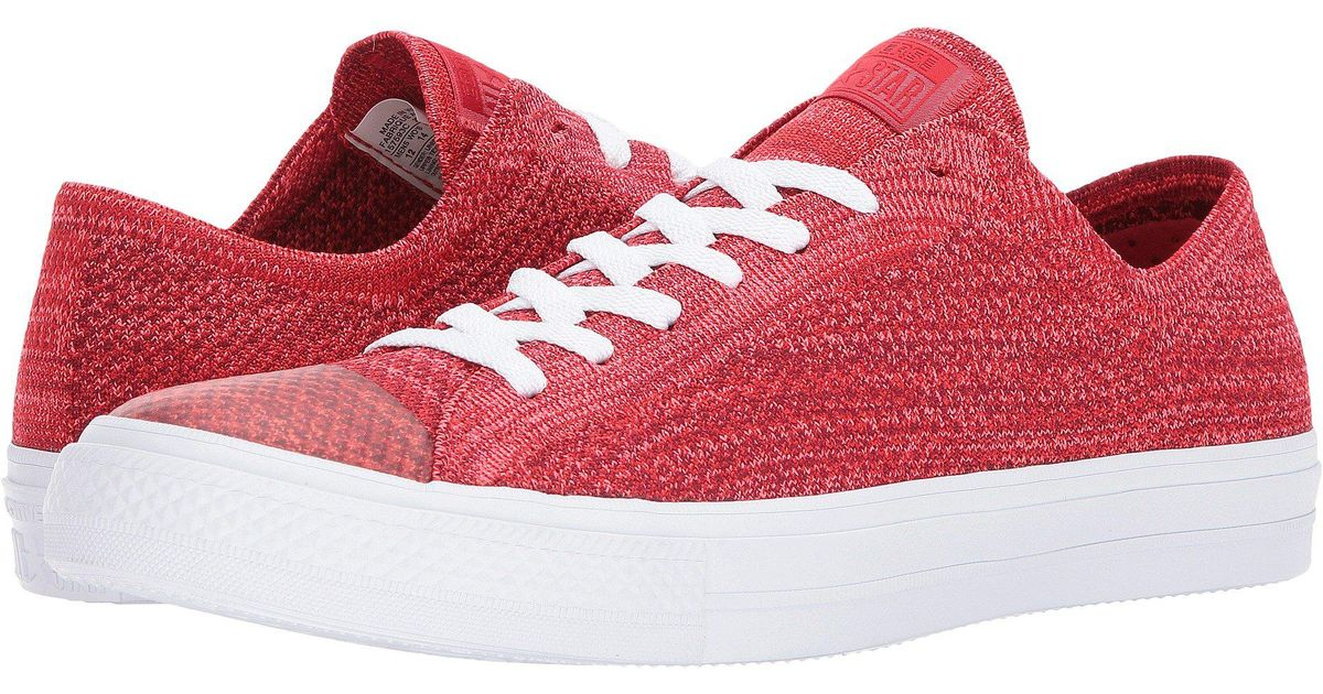 48876a2af2aa Lyst - Converse Chuck Taylor® All Star® X Nike Flyknit Ox in Red for Men