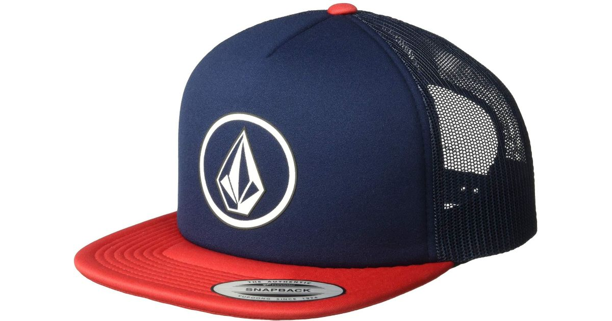 9efc2e8b Lyst - Volcom Full Frontal Cheese (engine Red) Caps for Men