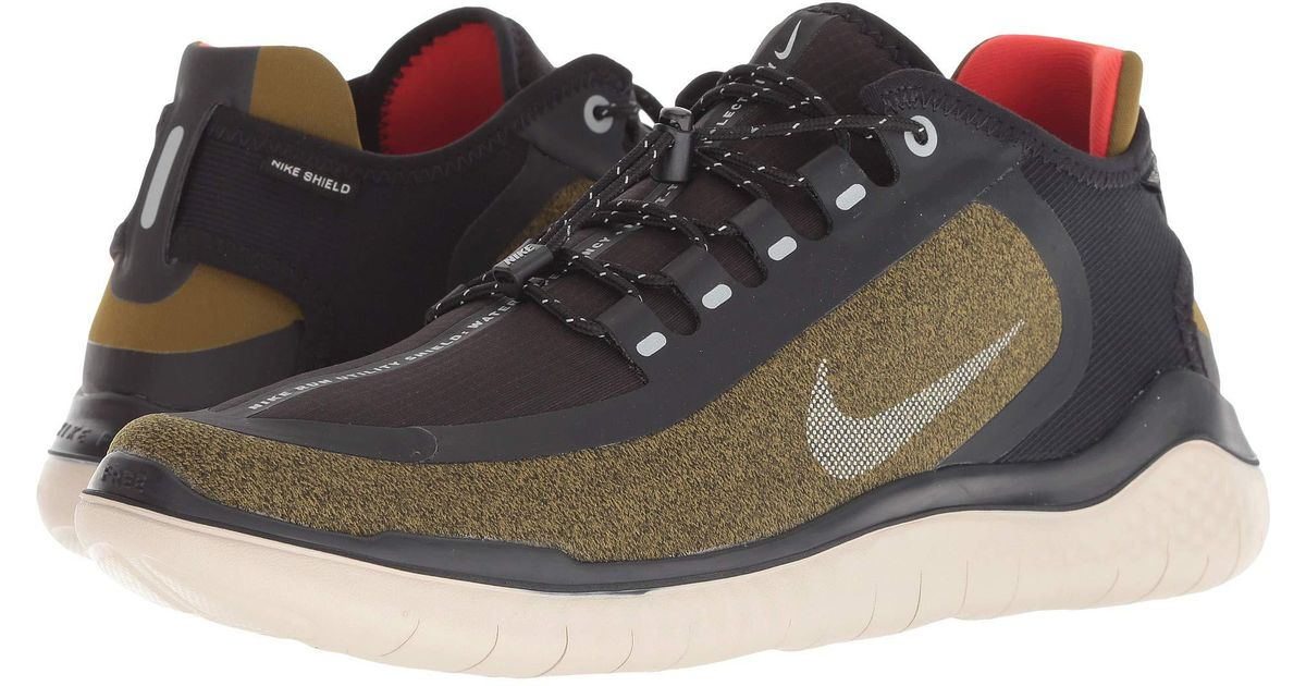 74278646fea Lyst - Nike Free Rn 2018 Shield (olive Flak metallic Silver black string) Men s  Running Shoes in Black for Men