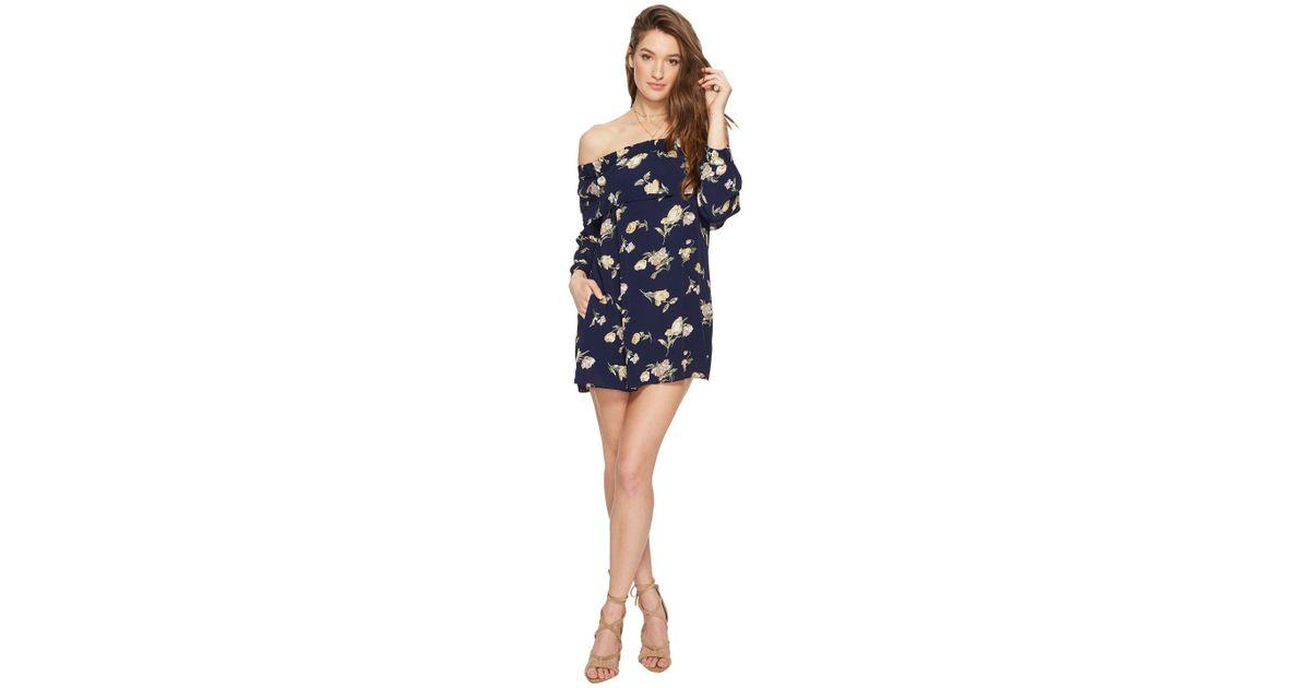 15ec2c3a9772 Flynn Skye Louie Mini Dress (deep Blue Blooms) Dress in Blue - Save 59% -  Lyst