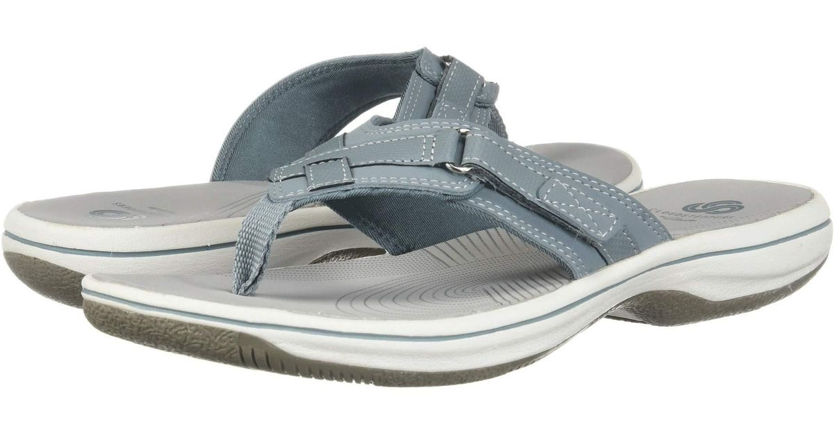 13fbe107d Lyst - Clarks Breeze Sea Flip-flop in Gray - Save 27%