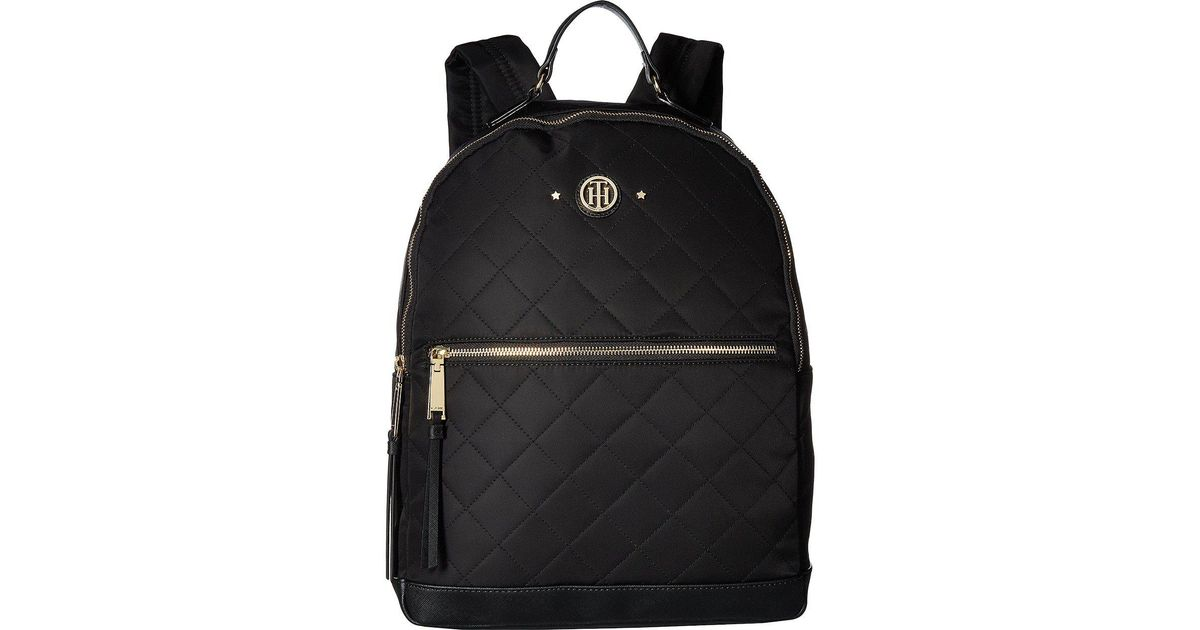 5d85b6889e7 Tommy Hilfiger Gifting Quilted Stars Nylon Large Dome Backpack in Black -  Lyst