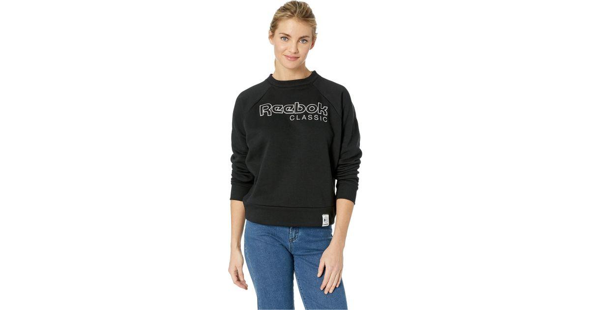 d0a5a18d Reebok Classic Logo Sweater In Black in Black - Save 59% - Lyst