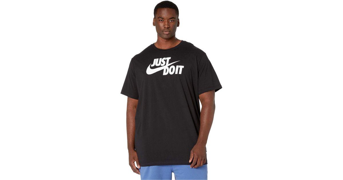 1dc04b0c Nike - Big Tall Nsw Just Do It Swoosh Tee (black/mystic Red/platinum Tint)  Men's T Shirt for Men - Lyst