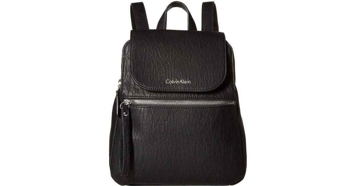 09df04c75fe3 Lyst - Calvin Klein Elaine Novelty Backpack in Black - Save 1%