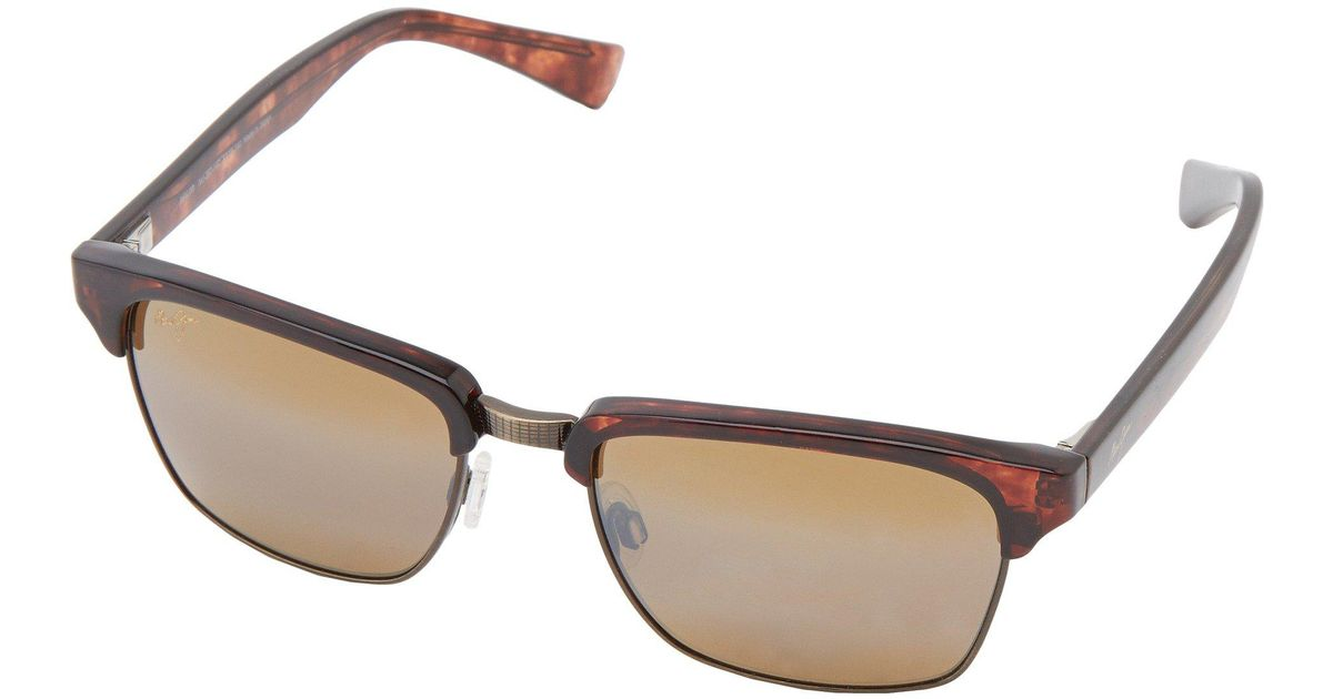 3c964363a514 Maui Jim Kawika (tortoise W/ Antique Gold/hcl Bronze) Sport Sunglasses in  Brown - Lyst