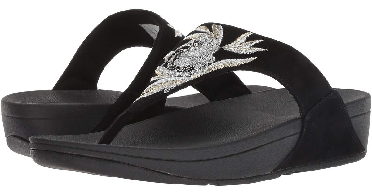 1041980f7 Lyst - Fitflop Lulu Baroque Toe Thong Sandals in Black - Save 5%