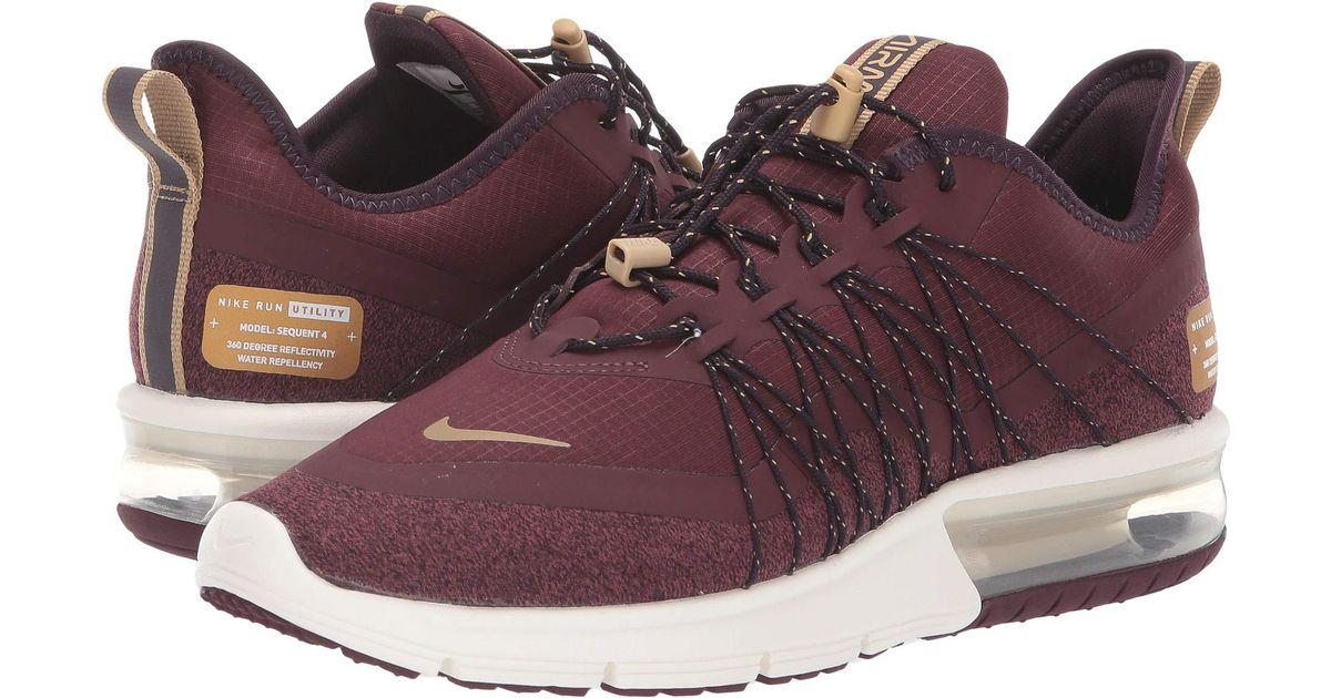 f204905a9505 Lyst - Nike Air Max Sequent 4 Shield (burgundy Crush metallic Gold) Women s  Running Shoes in Metallic