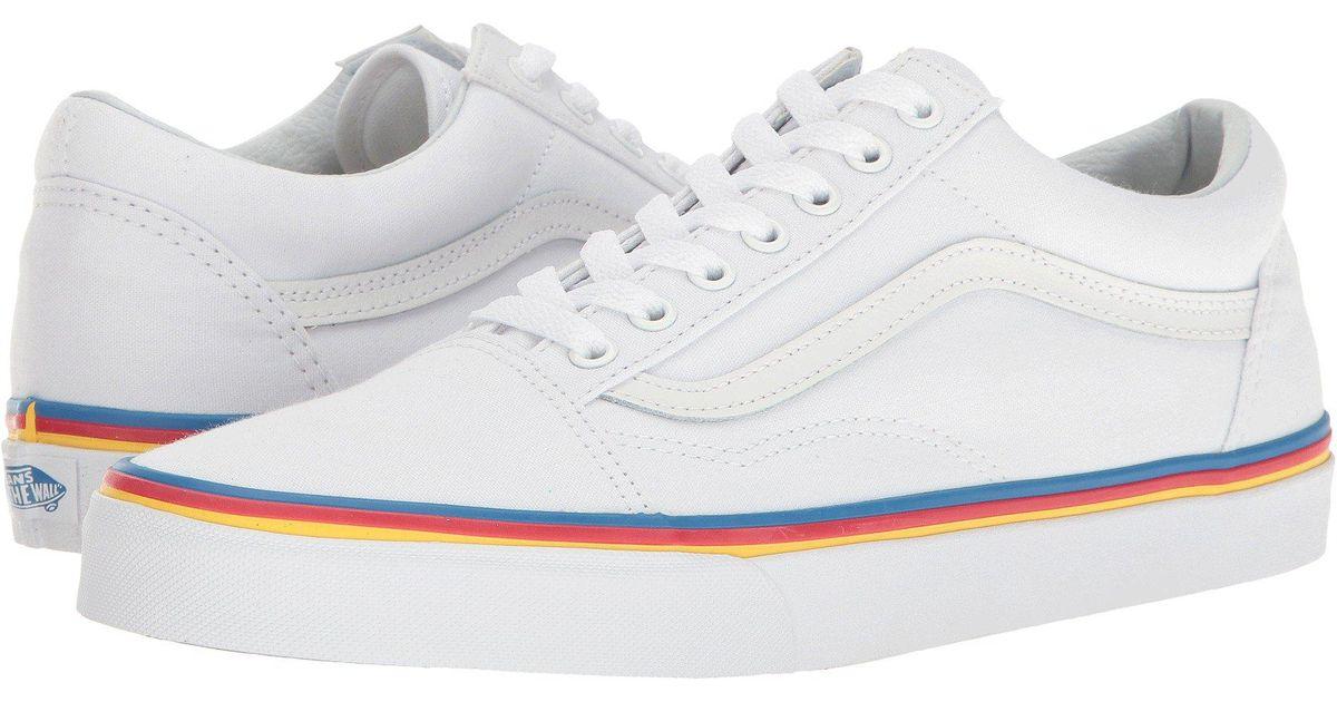 8be8c5166a9539 Lyst - Vans Old Skooltm ((gum Bumper) Red true White) Skate Shoes in White  for Men