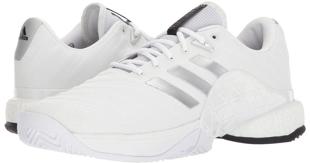 Lyst - Adidas Barricade 2018 Boost in White for Men c14dd04748d19