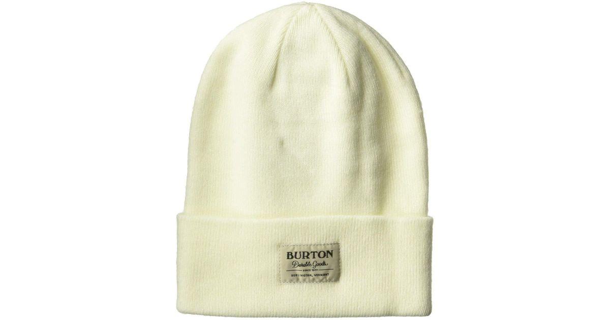 fa68d164e54 Lyst - Burton Kactusbunch Tall Beanie (abyss) Beanies in White for Men