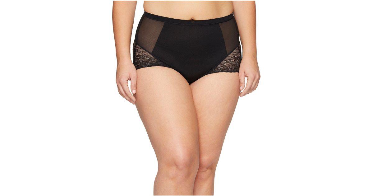 94fbb1516fc Lyst - Spanx Plus Size Spotlight On Lace Brief (vintage Rose) Women s Underwear  in Black